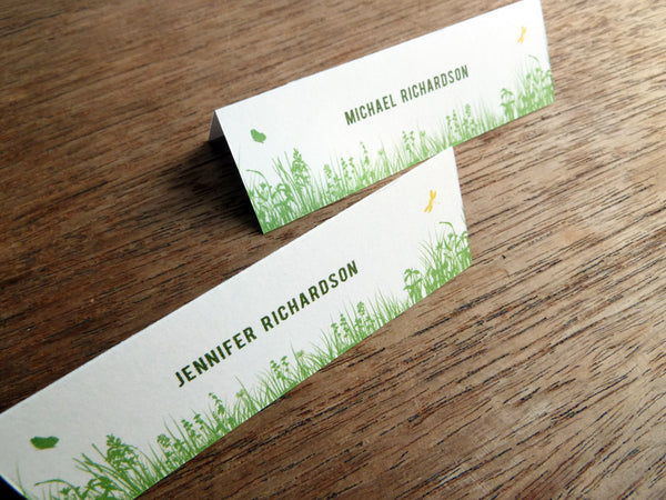 Printable Wedding Place Card - Garden Party
