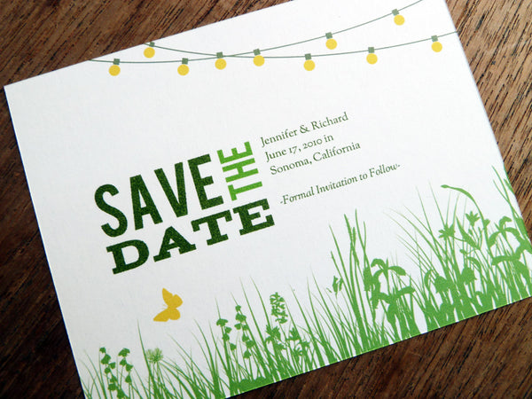 Printable Wedding Save the Date - Garden Party