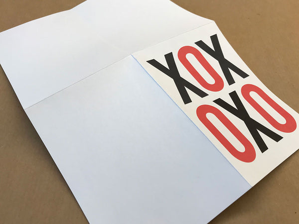 XOX Print and Fold Instant Valentine Card