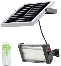 2000 or 4000 lumen Solar Light connects to Solar Panel with 12' Cord
