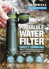 Emergency or Outdoor Water Filter Eliminates Bacteria and Virus with Nano Tech