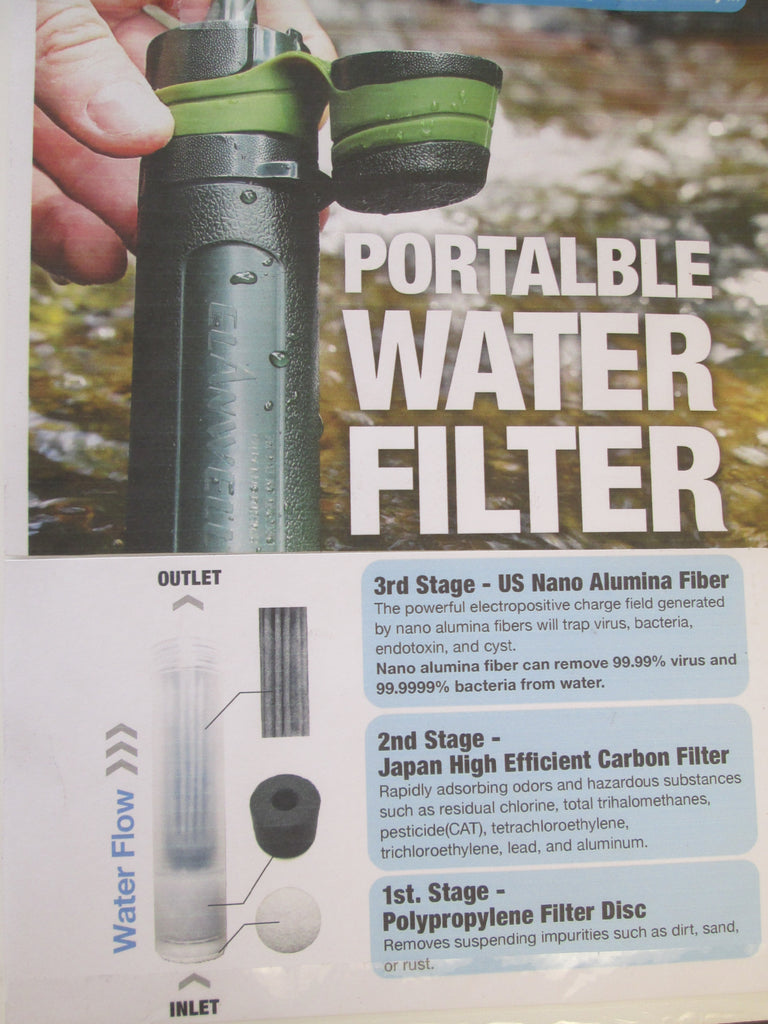 "Water Filter uses ""Nano"" Technology that eliminates Bacteria & Virus from Water!"