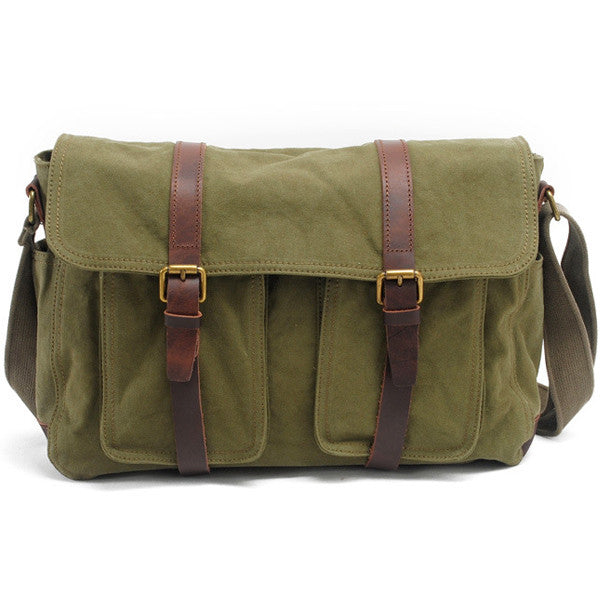 6bed552c9e ... Lixmee Women Outdoor Canvas Pockets Messenger Bag - Lixmee ...