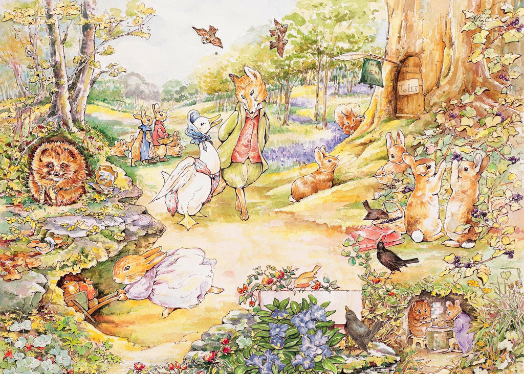 Peter rabbit country stroll new york puzzle company for Beatrix potter mural wallpaper
