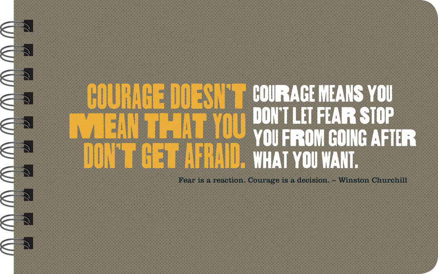 Courage book page