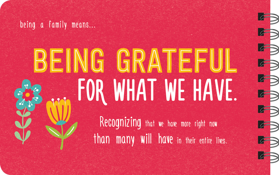 Being grateful book page