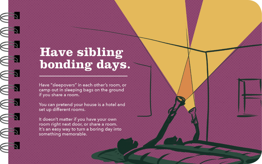 "Being a Big Sister ""sibling bonding days"" page"