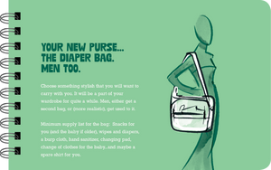 New parent diaper bag book page
