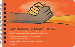 "Being a Teenage Boy ""help someone"" page"