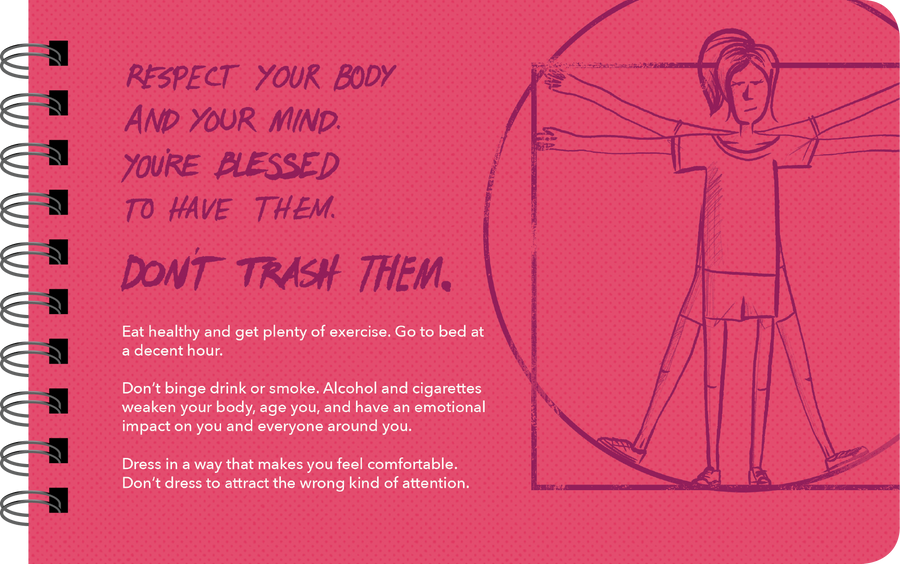 "Being a Teenage Girl ""respect your body"" page"