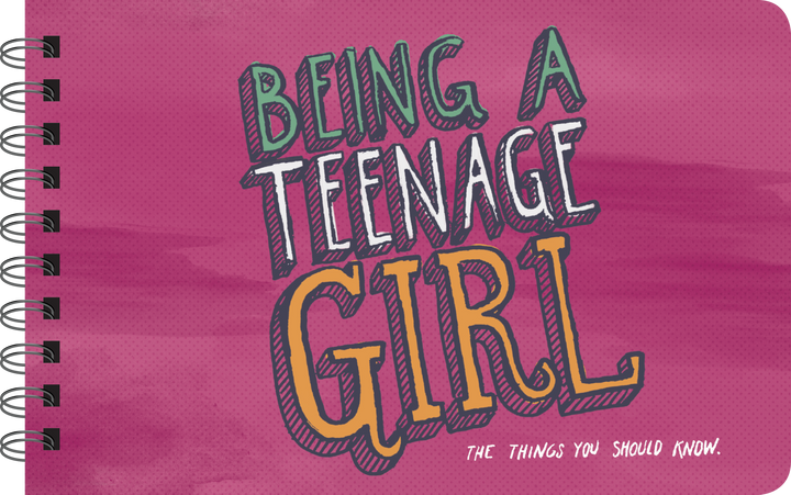 Being a Teenage Girl inspirational book cover art