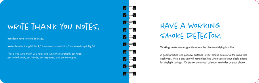 write thank you notes book page