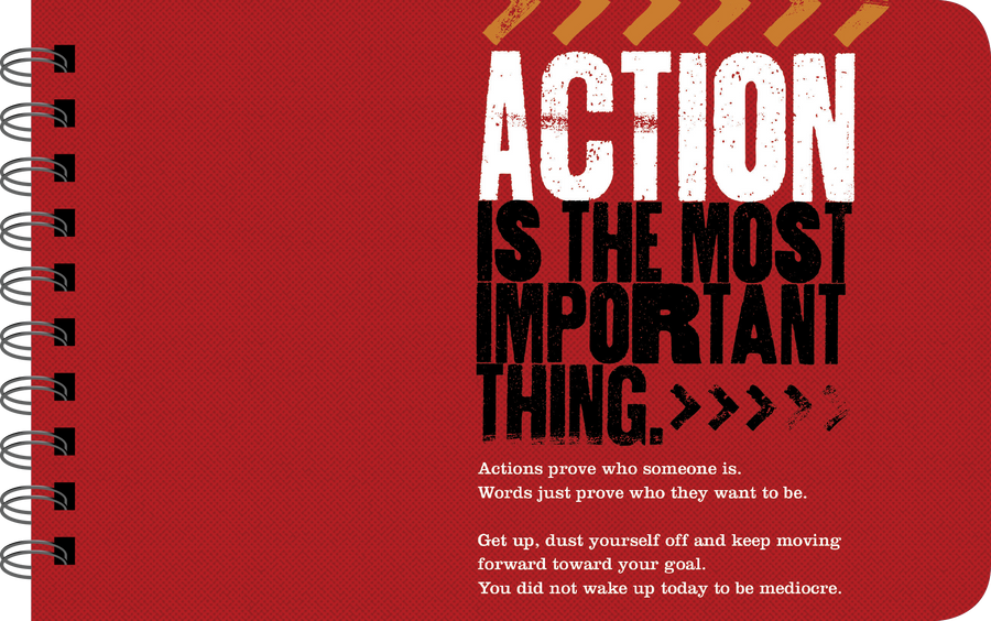 "Grit for Boys ""action is important"" page"