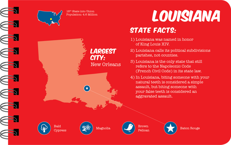 Louisiana overview book page