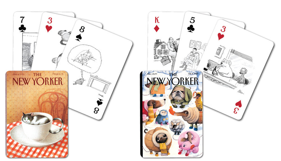 Dog and Cat Cartoons Double Deck Playing Cards