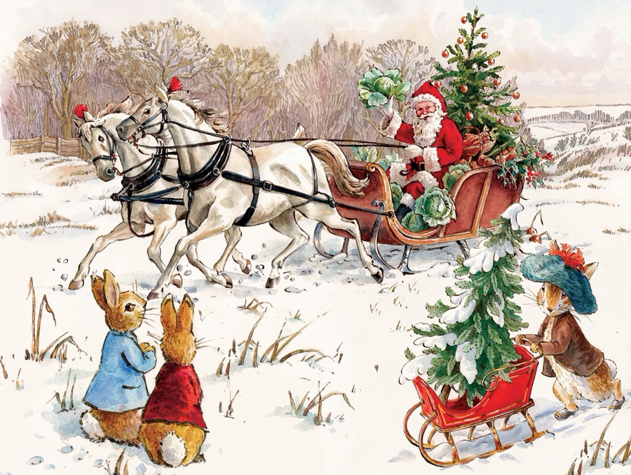 Peter Rabbit and Santa