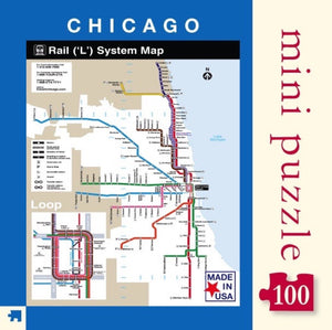 Chicago Transit Map Mini