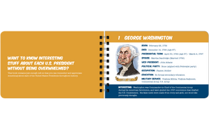 George Washington fun facts book page