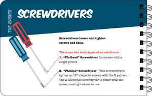 Screwdrivers overview book page