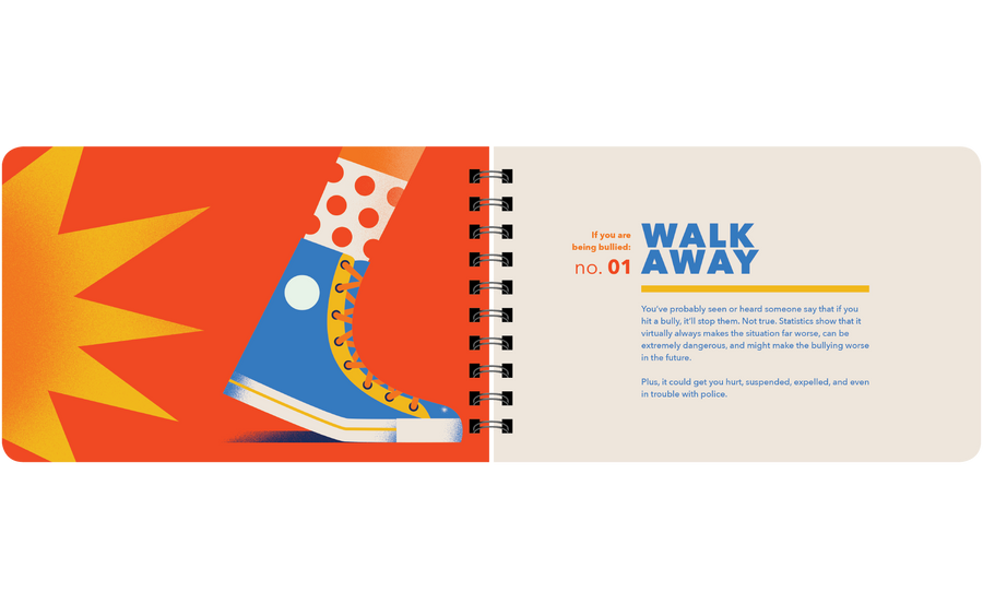 walk away when bullied book page