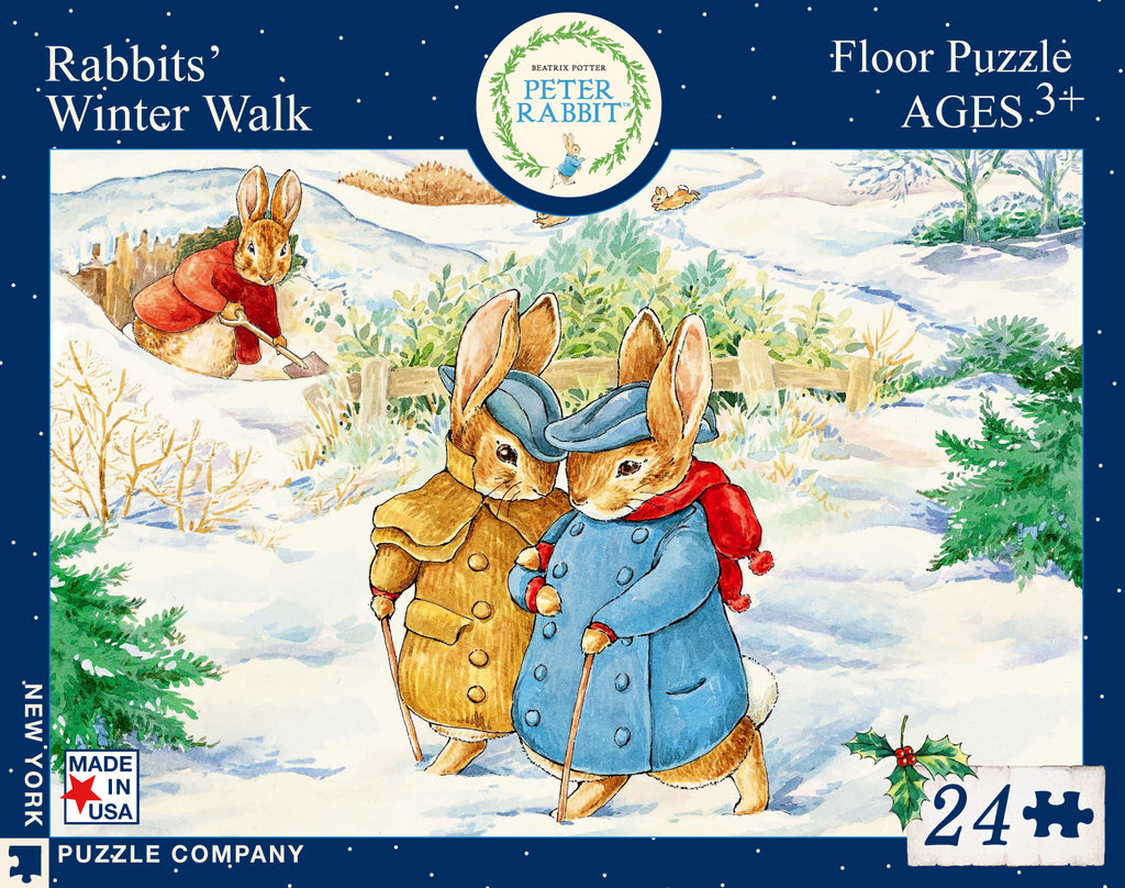 Rabbits' Winter Walk