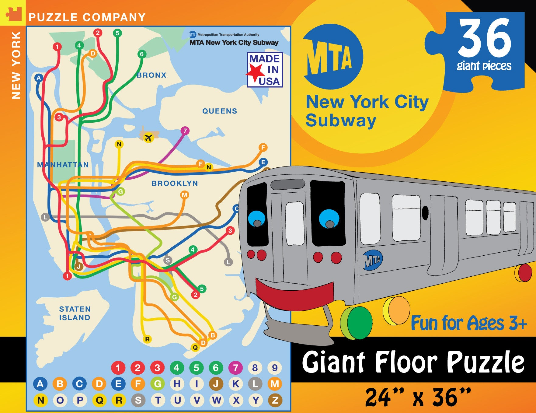 Nyc Subway Map 2000.New York Subway Map Kids New York Puzzle Company