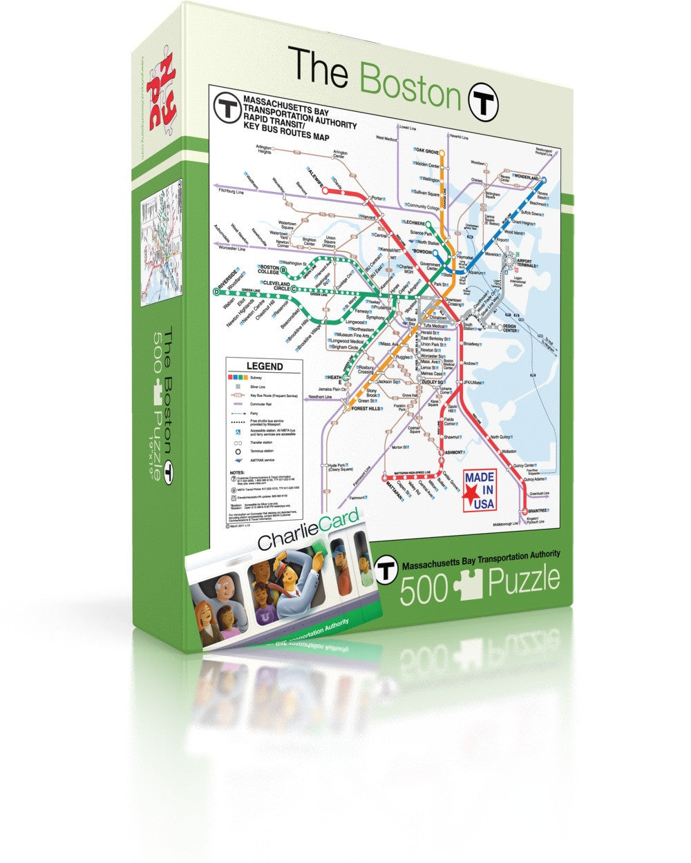 Boston Subway Map To Zoo.Boston T Map New York Puzzle Company
