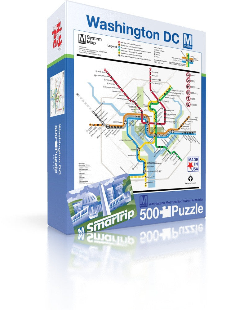 Dc Metro Map New York Puzzle Company