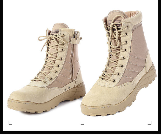 Tactical Leather Boots - quixique