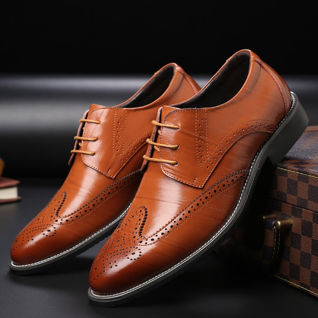 Men Oxford Genuine Leather Dress Shoes - quixique