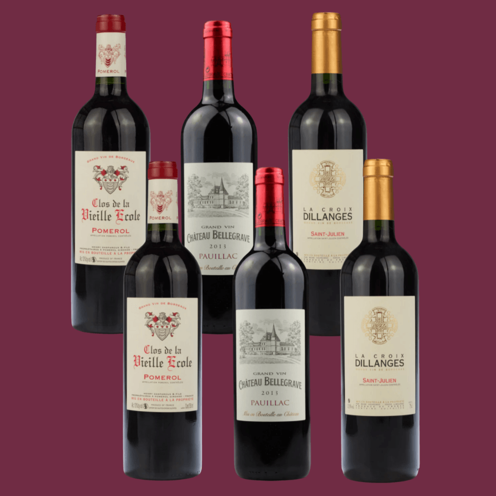 6 Bottle Mixed Case: Bordeaux Top Reds
