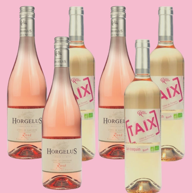 6 Bottle Mixed Case: Organic/Vegan Rose - Pierre Hourlier Wines