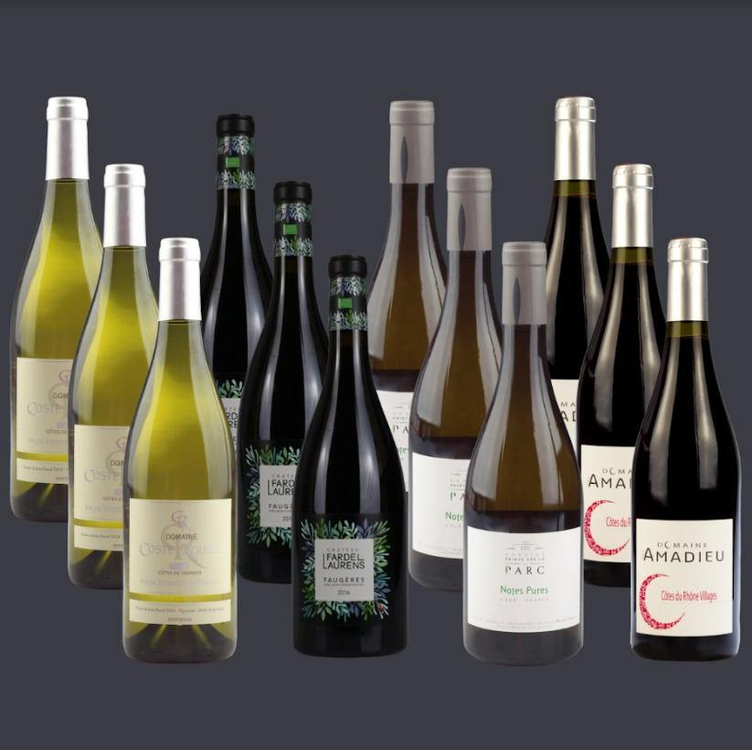 12 Bottle Mixed Case: Mixed Organic Selection - Pierre Hourlier Wines