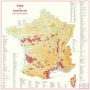 Map: Wines and Appellations of France - Pierre Hourlier Wines