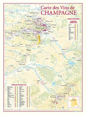 Map: Wines of Champagne - Pierre Hourlier Wines