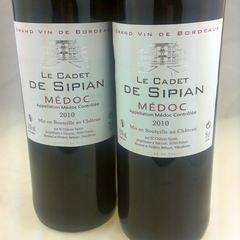 Medoc: Le Cadet de Sipian Red 2010 - Pierre Hourlier Wines