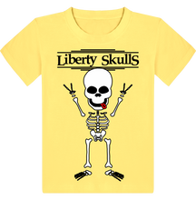 Load image into Gallery viewer, T-shirt ENFANT Liberty Skulls V - Coton - - Liberty Skulls