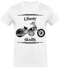 Load image into Gallery viewer, T-shirt HOMME Liberty Skulls Moto - Coton - - Liberty Skulls