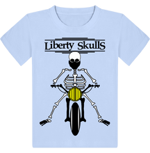 Load image into Gallery viewer, T-shirt ENFANT Liberty Skulls Moto Squelette - coton - - Liberty Skulls