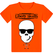 Load image into Gallery viewer, T-shirt ENFANT Liberty Skulls Beau Gosse - Coton - - Liberty Skulls