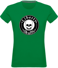 Load image into Gallery viewer, T-shirt FEMME Liberty Skulls Brand - Coton - - Liberty Skulls
