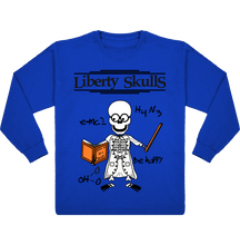 Load image into Gallery viewer, T-Shirt ENFANT Manches Longues Liberty Skulls Professeur - Coton - - Liberty Skulls