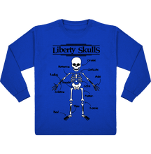 Load image into Gallery viewer, T-Shirt ENFANT Manches Longues Liberty Skulls Oscar - Coton - - Liberty Skulls