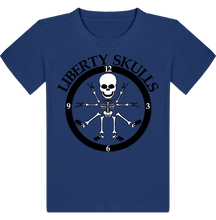 Load image into Gallery viewer, T-shirt ENFANT Liberty Skulls Horloge - Coton - - Liberty Skulls