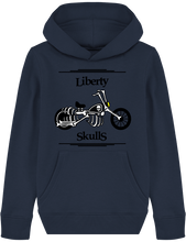 Load image into Gallery viewer, Sweat Capuche ENFANT Liberty Skulls Moto- Coton - - Liberty Skulls