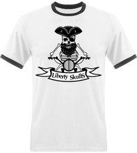 Load image into Gallery viewer, T-shirt Vintage HOMME Liberty Skulls Biker Pirate - Coton - - Liberty Skulls