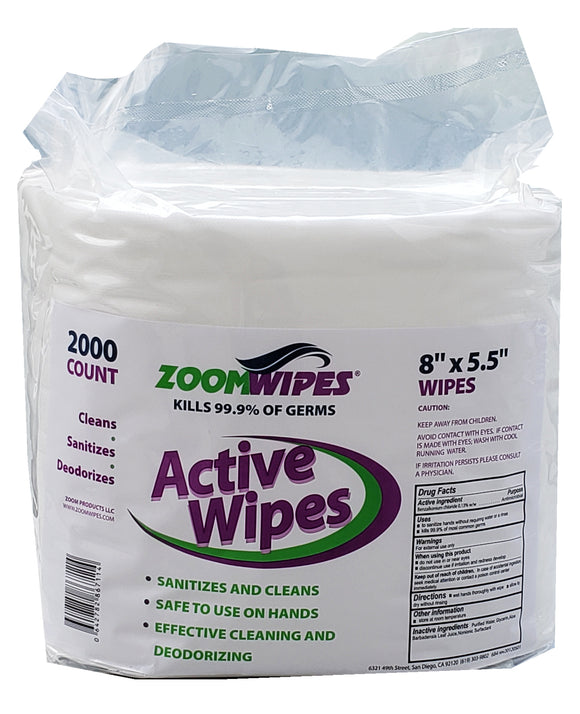 Active Disinfectant Wipes, 2000 Count