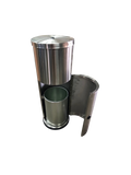 Stainless Steel Wipe Dispenser Stand with Built-In Trash Can