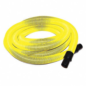 "Yellow Vacuum Hose Leader - 1.25"" x 50 ft"