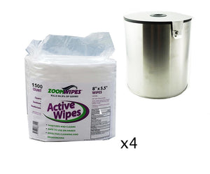 Active Disinfectant Wipes Bundle (Free Dispenser)